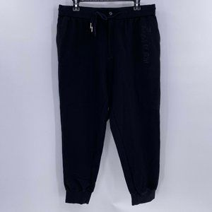 cabbeen lifestyle king of style black crop joggers